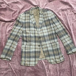 Banana Republic Checkers Plaids Casual Jacket Nice